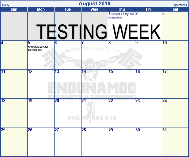 August Schedule Starts NEXT WEEK Image
